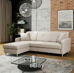 Corner Sofa Bed FARDEKO Storage Container Sleep Function New