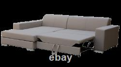 Corner Sofa Bed Function Storage Cushions Couch Seater 263cm FAST DELIVERY