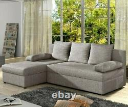 Corner Sofa Bed GINO FAST DELIVERY Storage Container Universal Corner Side New