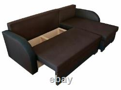 Corner Sofa Bed JOZEF Storage Container Sleep Function Universal New