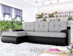 Corner Sofa Bed KOS Storage Container Sleep Function New Modern