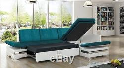 Corner Sofa Bed LATINO LUX Bargain with Storage Container Sleep Function New