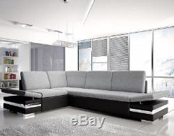 Corner Sofa Bed LATINO LUX with Storage Container Sleep Function New