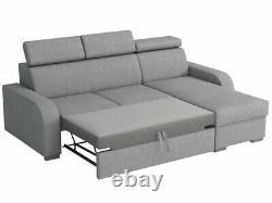 Corner Sofa Bed LOSAR 2RLC Storage Container Sleep Function Universal Side New