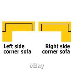 Corner Sofa Bed MONACO D Storage Container Sleep Function Springs Universal New