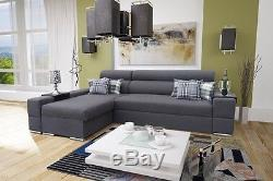 Corner Sofa Bed Orlando faux leather or fabric left or right hand corner