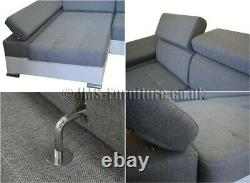 Corner Sofa Bed PAUL with Storage Container and Sleep Function, FAST DELIVERY