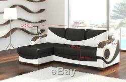 Corner Sofa Bed PUERTO Two Storage Containers Sleep Function Universal New