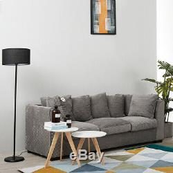 Corner Sofa Bed Plain Grey Brown Right Left Scatter Storage Fabric Sofa Settee