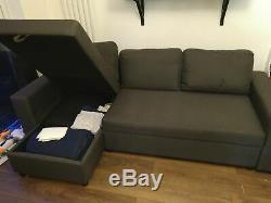 Corner Sofa Bed Storage Grey Dark Fabric Left Right Universal