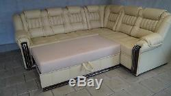 Corner Sofa Bed+Storage, Real Leather, Right or Left hand side, Customise it