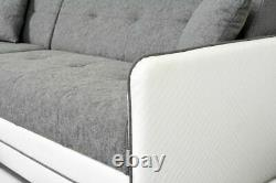 Corner Sofa Bed Storage Sleeping Function Couch Settee Wave Bonnell Springs