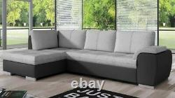 Corner Sofa Bed TOKIO Bargain with Storage Container Springs New