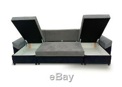 Corner Sofa Bed U Shape U-Shaped with Storage Compartment Bonell Sprung Seat