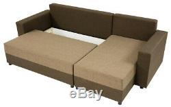 Corner Sofa Bed VIBO with Storage Container Universal Corner Side New