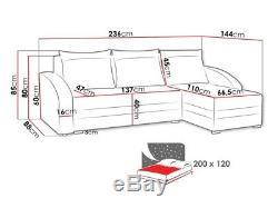Corner Sofa Bed VIVA CORNER Storage Container Sleeping Surface Modern New