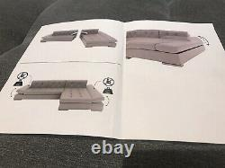 Corner Sofa Bed With Storage Grey / Black Right-Hand