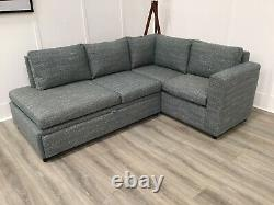 Corner Sofa Bed With Storage In Green Fabric (Central)