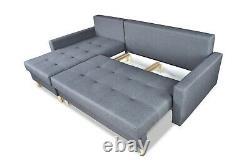 Corner Sofa Bed with Storage Scandinavian