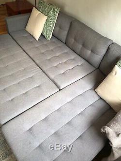 Corner Sofa Storage Footrest And Sofa bed
