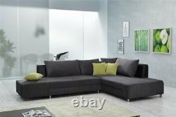 Corner Sofa With Sleep Function And Pillow Split Wohnlandchaft Sofa Bed