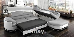 Corner Sofa With Sleep Function Koko Bed Box White Grey Couch New