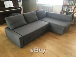 Corner Sofa-bed with Storage in Dark Grey, IKEA FRIHETEN In Excellent Condit