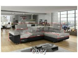 Corner sofa bed ANTON HR foam -GREY - FAST Delivery to Scotland