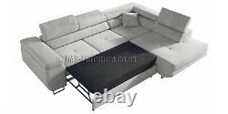 Corner sofa bed ANTONY Blue Velvet FAST DELIVERY Delivery to Scotland