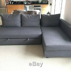 Corner sofa-bed FRIHETEN Corner sofa-bed with storage, Skiftebo dark grey
