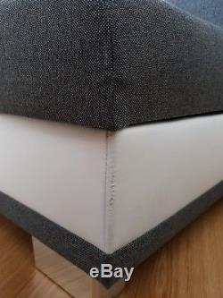 Corner sofa bed Grey/Blue