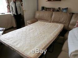 Corner sofa bed pebble colour good condition