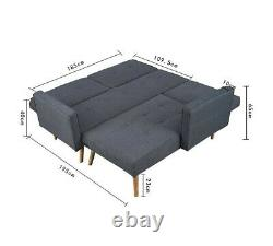Corner sofa bed with chaise long