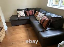 Corner sofa bed with storage in as-new condition