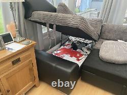 Corner sofa bed with storage used