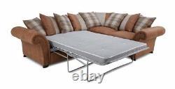 DFS Heaton Corner Sofa Bed Left Hand Facing Pillow Back