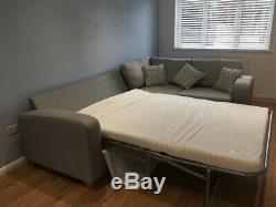 DFS Lydia corner sofa bed grey used -great condition