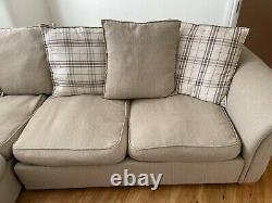 DFS'Owen' Pillowback Righthand Facing Arm Corner Sofa Bed in Oyster Combination