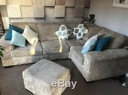 DFS Riva Corner Sofa with Bed Settee & Storage Footstool