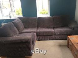 DFS corner sofa with sofa bed in chocolate brown