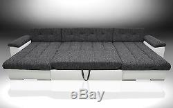Double Chaise Corner Sofa Bed Ocean, B 2 Bedding Places, XXXL Bed, All Colours