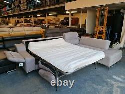 Ex-display DFS grey velvet corner sofa bed
