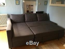 FRIHETEN Corner Double Sofa Bed Ikea Skiftebo Dark Grey With Storage Area