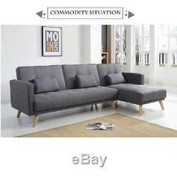 Fabric Corner Sofa Bed Couch bed Settee Sofa Suite Corner Left & Right Side UK