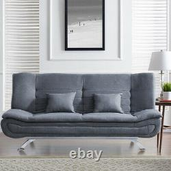 Fabric Leather Corner Sofa Bed 3 Seater Settee Recliner Double Sleeper Sofa Bed