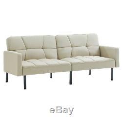 Fabric Sofa Bed 3/4 Seater Armrest Sofa Corner Couch Settee for Living Room Home