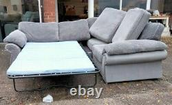 Famous Store Corner Sofa Bed Grey Fabric Pull Out Mattress Gray Left Right Hand