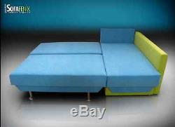 Fenix' Brand New Corner Sofa Bed! Two Storages, Bed For Everyday Use