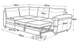 Fernando Fabric Left/Right Hand Corner Sofa Bed Storage Argos