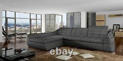 Future Corner Sofa With Sleep Function Comfort Modern Corner Couch Bed Box